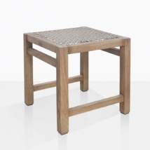 Gazzoni Teak And Rope Dining Stool Angle