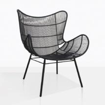 Nairobi Wing Black Wicker Chair
