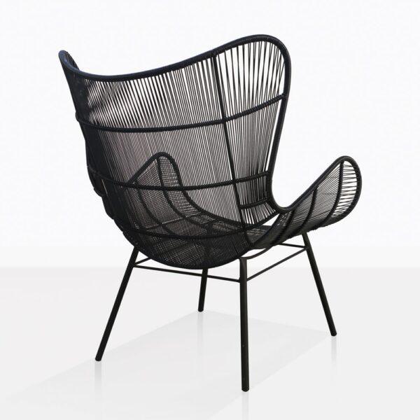 Nairobi Wing Black Wicker Chair Back