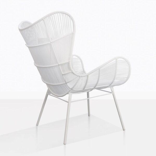 Nairobi White Wicker Relaxing Chair Back