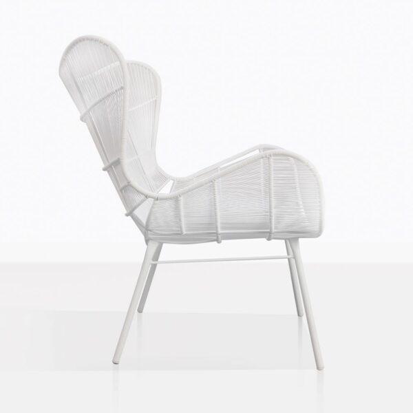 Nairobi White High Back Wicker Chair
