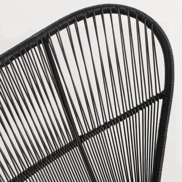Nairobi Black Wicker Relaxing Chair Closeup