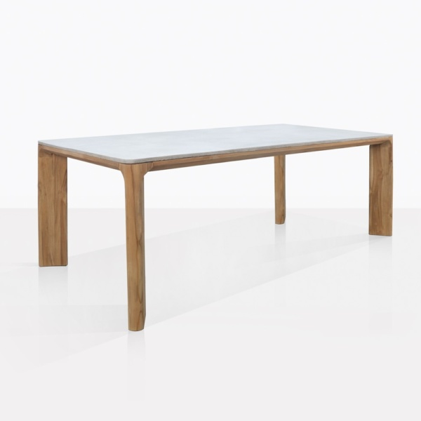Parsley Teak And Concrete Dining Table