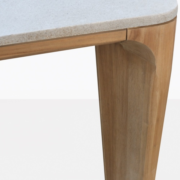 ParsleyTeak And Concrete Dining Table Closeup