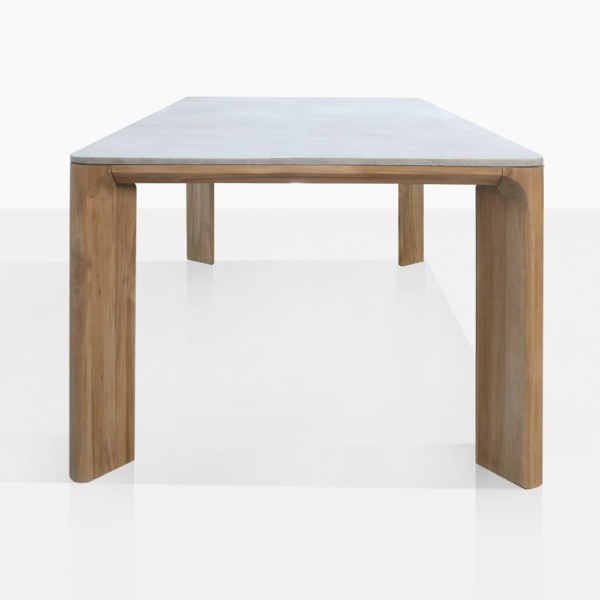 Parsley Rectangle Dining Table With Teak Legs And Concrete Top