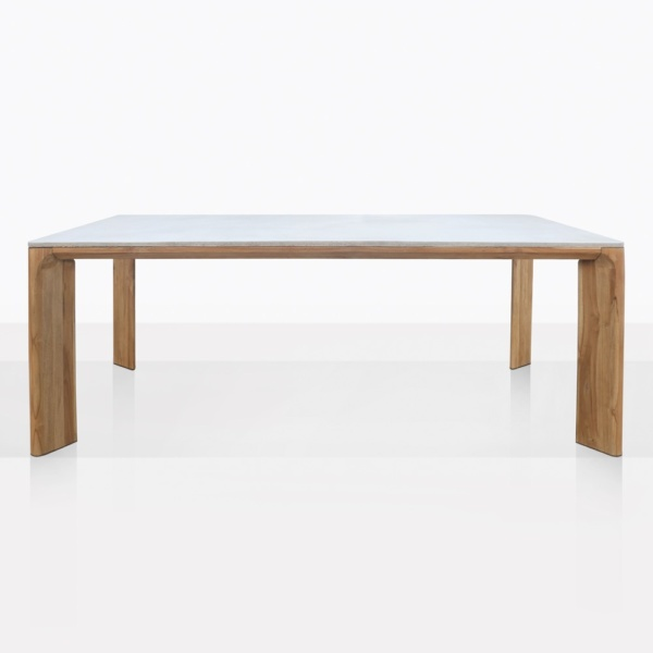 Parsley Teak And Concrete Large Dining Table