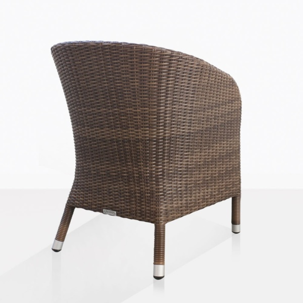 Safari Brown Wicker Dining Chair Back