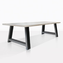 Santa Fe Teak And Aluminum Dining Table