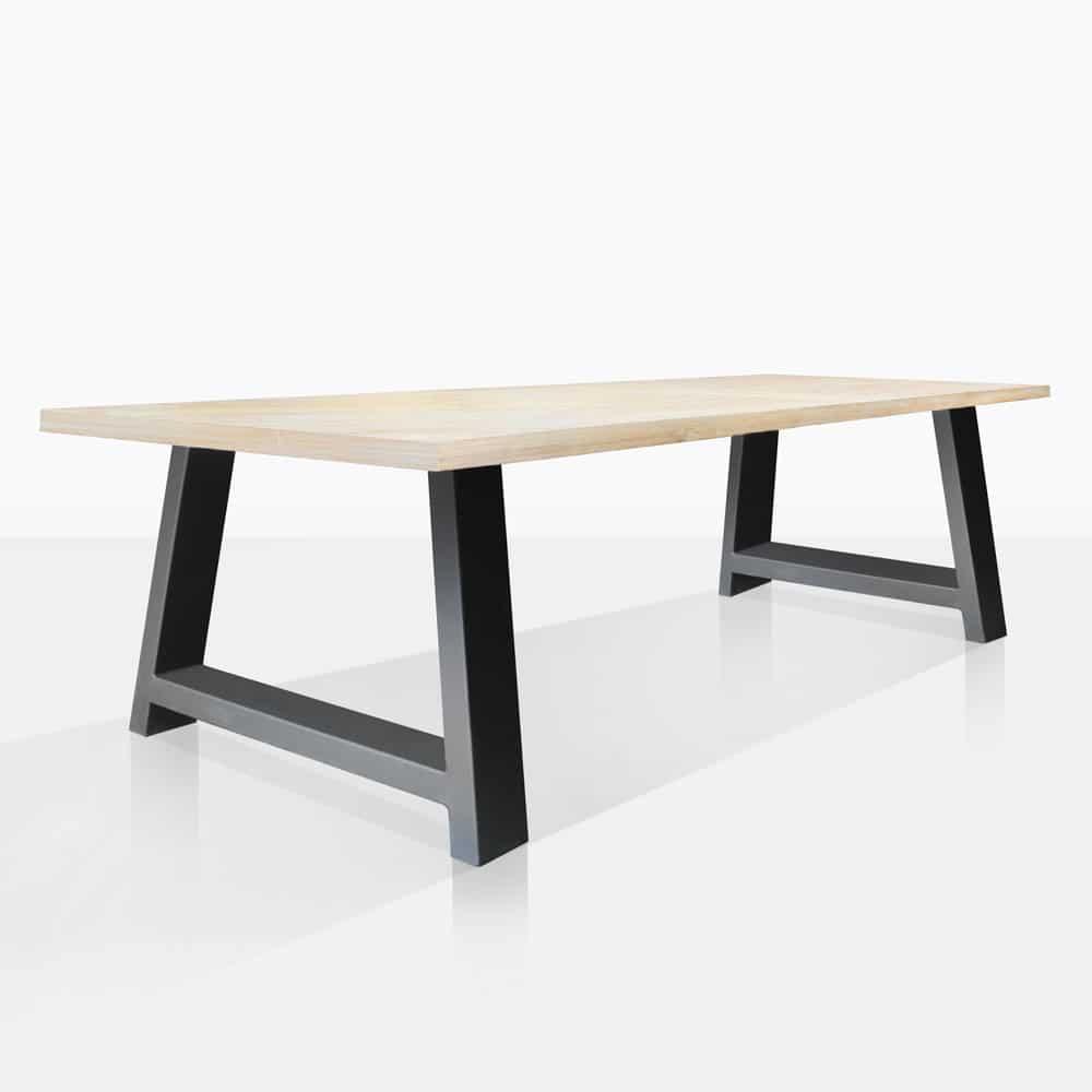 Santa Fe Teak & Aluminum Dining Table   Outdoor Furniture   Teak ...