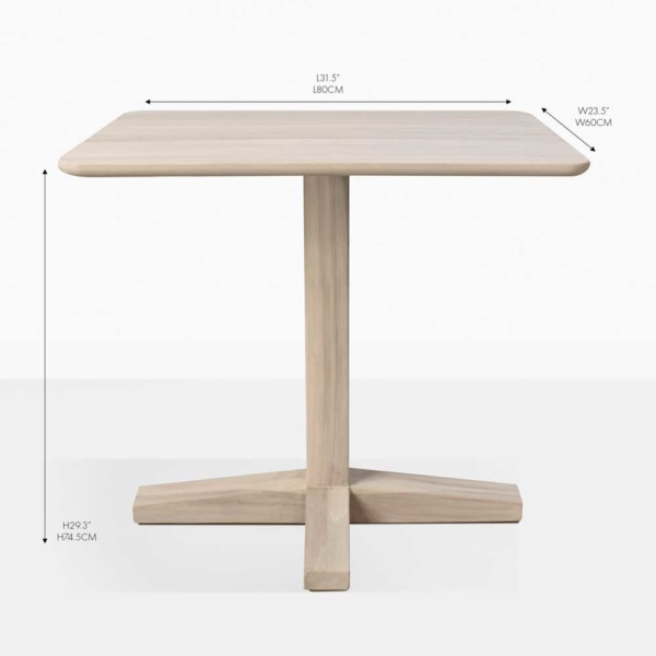 shelli rectangular bistro table