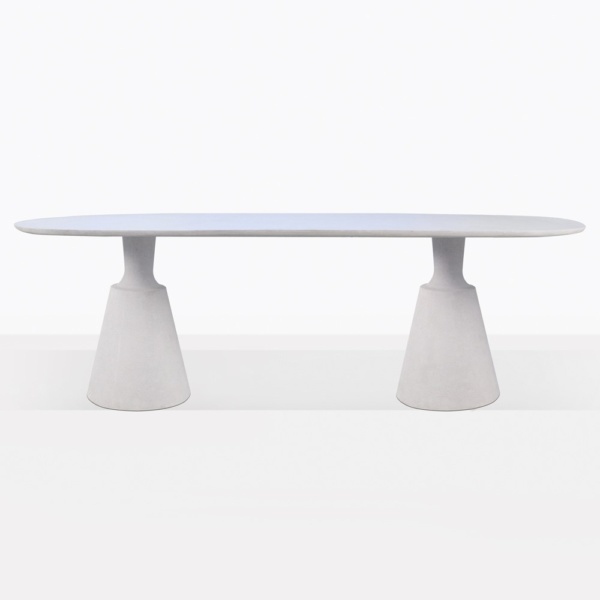 Vibe Concrete Oval Dining Table Side