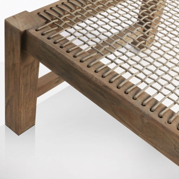 Gazzoni Teak And Rope Bench Closeup