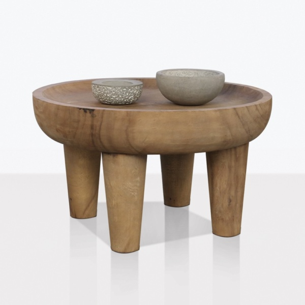 African Teak Round Coffee Table Medium