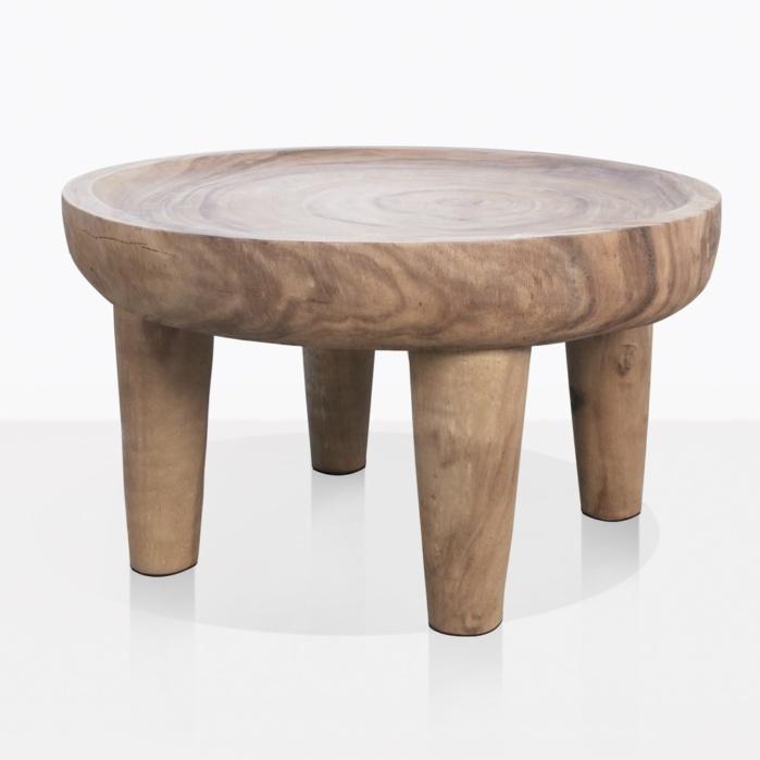 African Safari Large Teak Side Table Outdoor Furniture