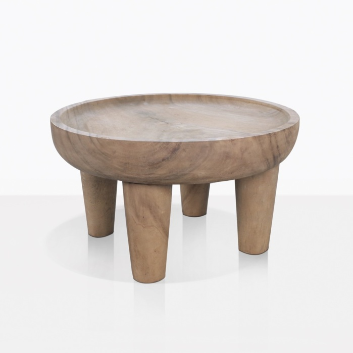 African Safari Round Teak Coffee Table