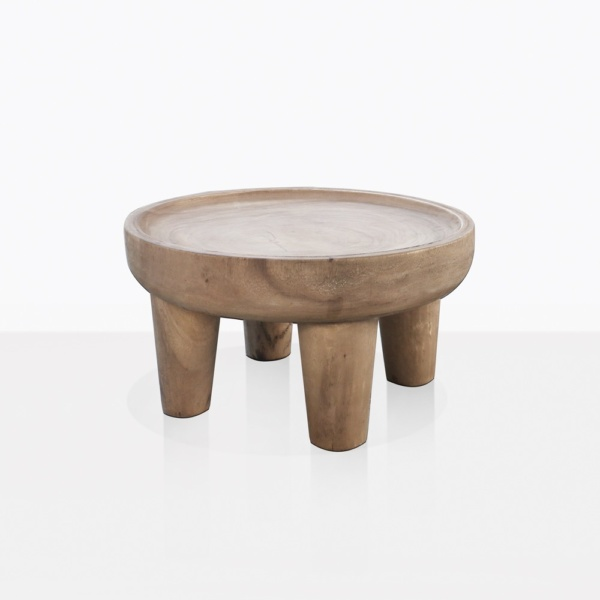 African Safari Round Teak Coffee Table Small