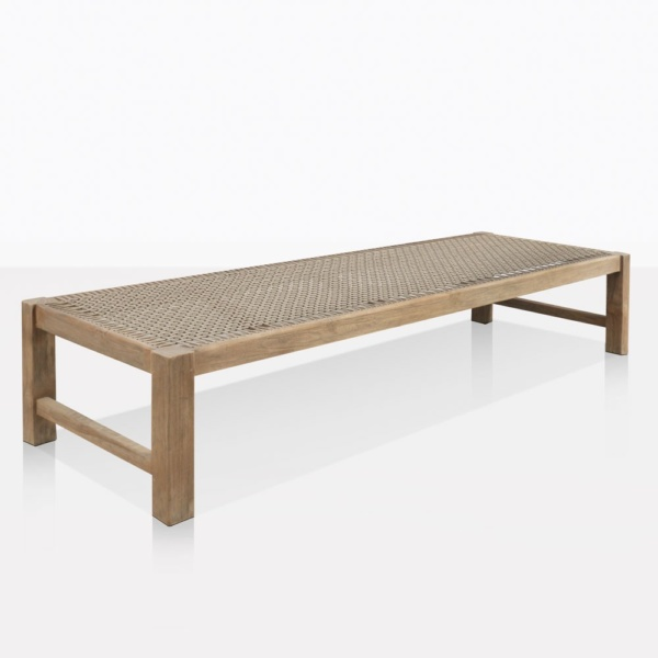 Gazzoni Teak And Rope Bench