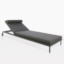 Kobbi Essential Coal Adjustable Aluminum Sun Lounger