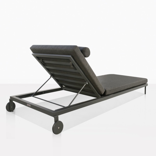 Kobbi Essential Coal Sun Lounger Adjustable Back