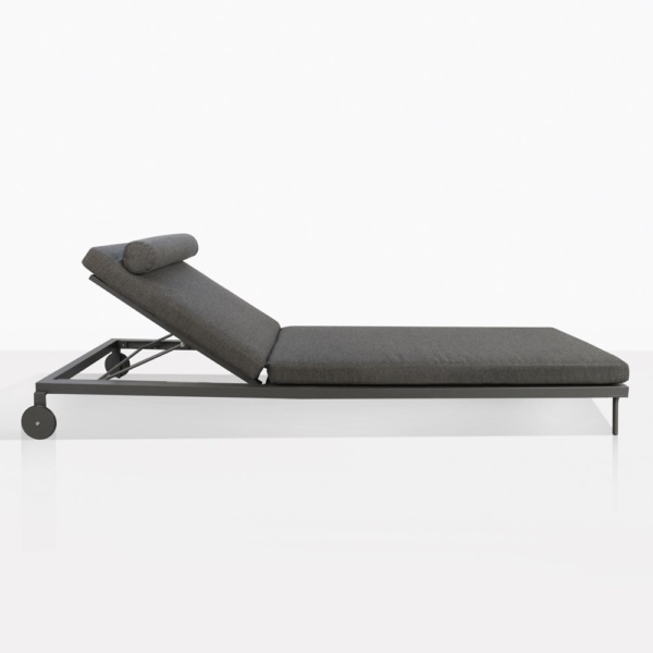 Kobbi Essential Coal Sun Lounger Side View