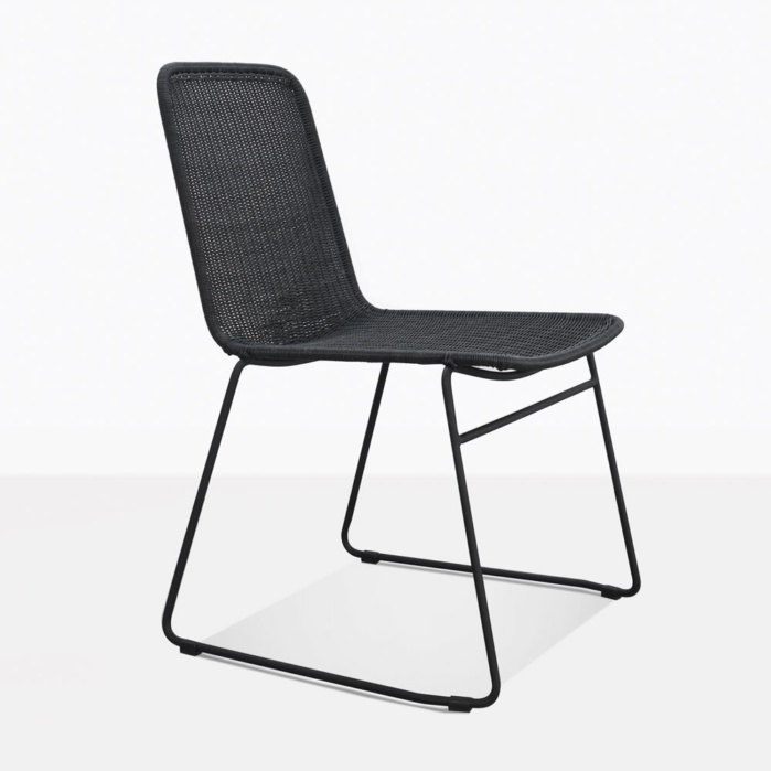 Olivia Black Wicker Dining Side Chair