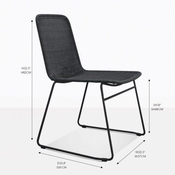 olivia black wicker side chair