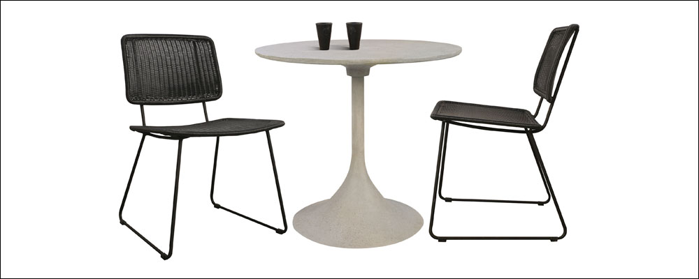 Polly Outdoor Dining Chairs With Round Dining Table