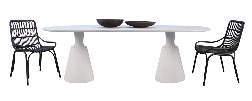 Vibe Concrete Dining Table With Sydney Dining Chairs
