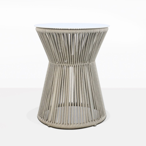 Zepher Rope And Aluminum Accent Table Outdoor Furniture