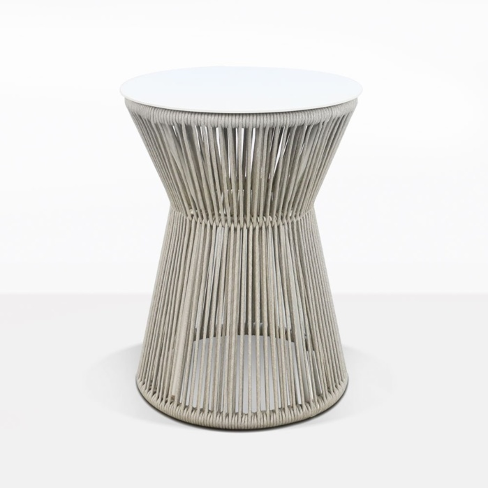 Zepher Rope And Aluminum Accent Table With With Top
