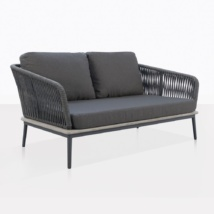 Oasis Lovseat With Coal Cushions