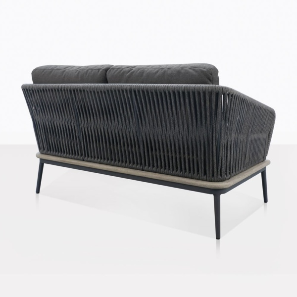 Oasis Rope And Aluminum Loveseat Back