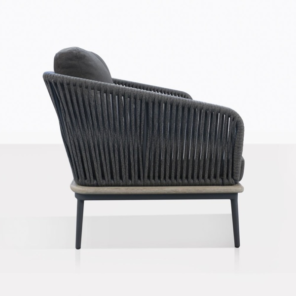 Oasis Rope And Aluminum Loveseat Side