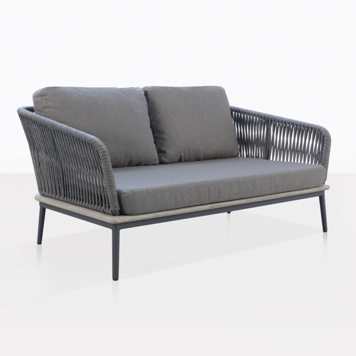 Oasis Loveseat With Fog Cushions