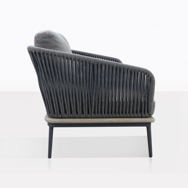 Oasis Fog Loveseat Side View