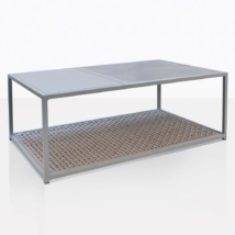 Studio Taupe Rectangle Coffee Table Angle