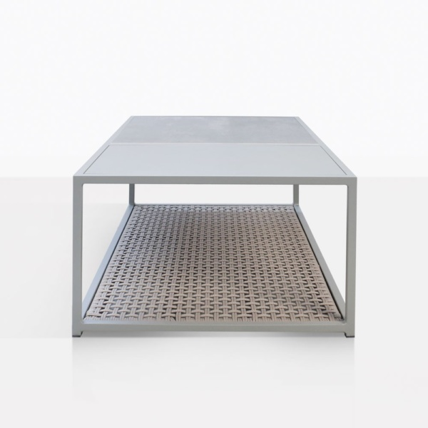 Studio Taupe Rectangle Coffee Table End