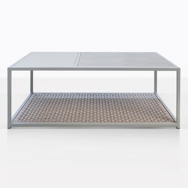 Studio Rectangle Taupe Outdoor Coffee Table