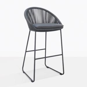 Urban Charcoal Gray Bar Stool With Cushion