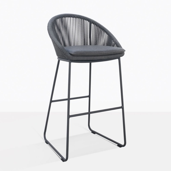 Urban Charcoal Gray Bar Stool With Cushion