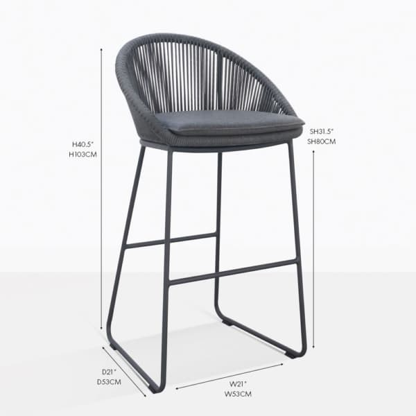 urban outdoor bar stool coal
