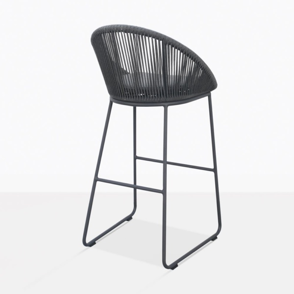 Urban Charcoal Gray Bar Stool Back