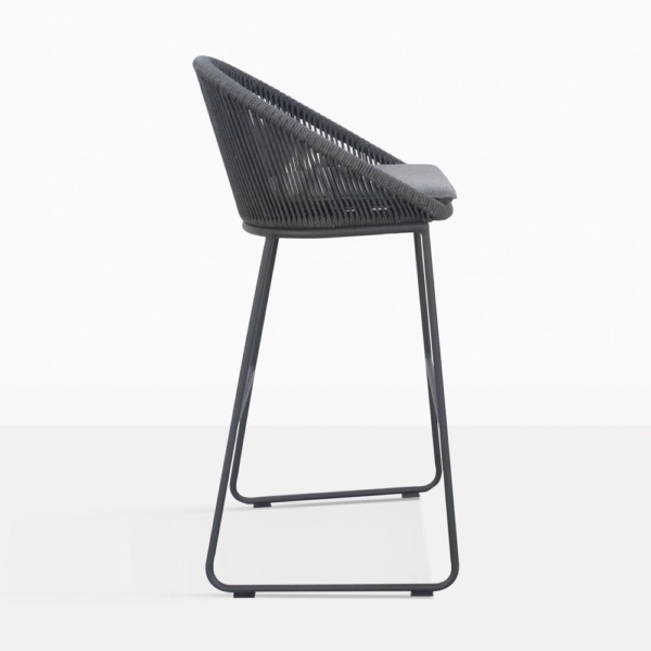 Urban Gray Outdoor Bar Stool Side