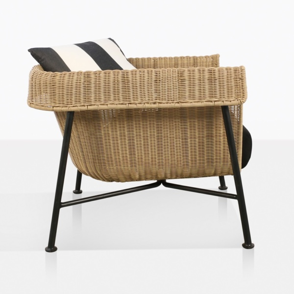 Yoji Wicker Relaxing Chair With Cushions