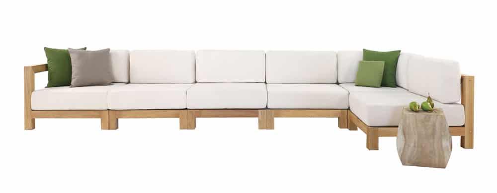 Ibiza Teak Sectional Sofa With Sunbrella Cushions