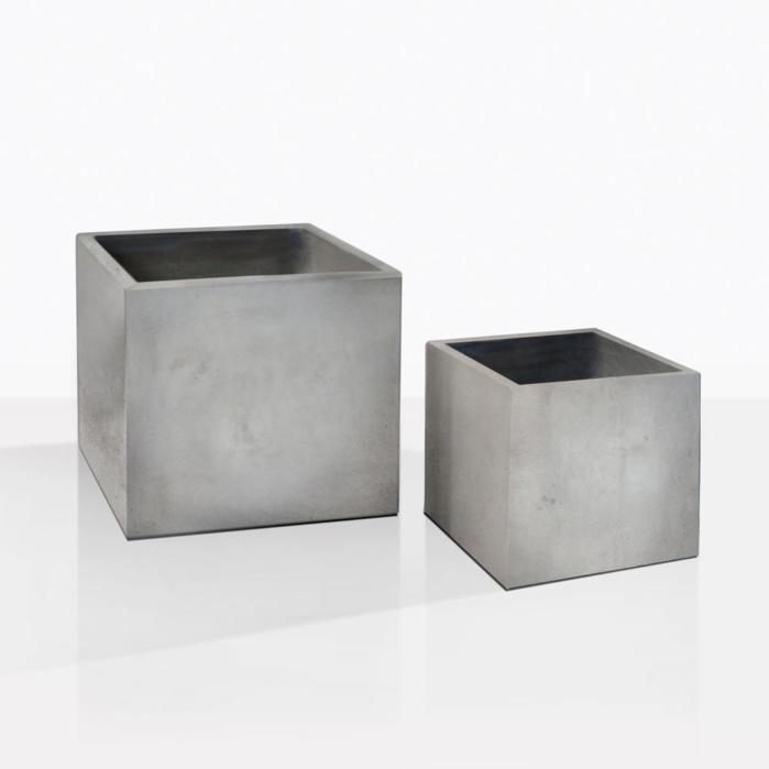 Blok Concrete Square Outdoor Planters