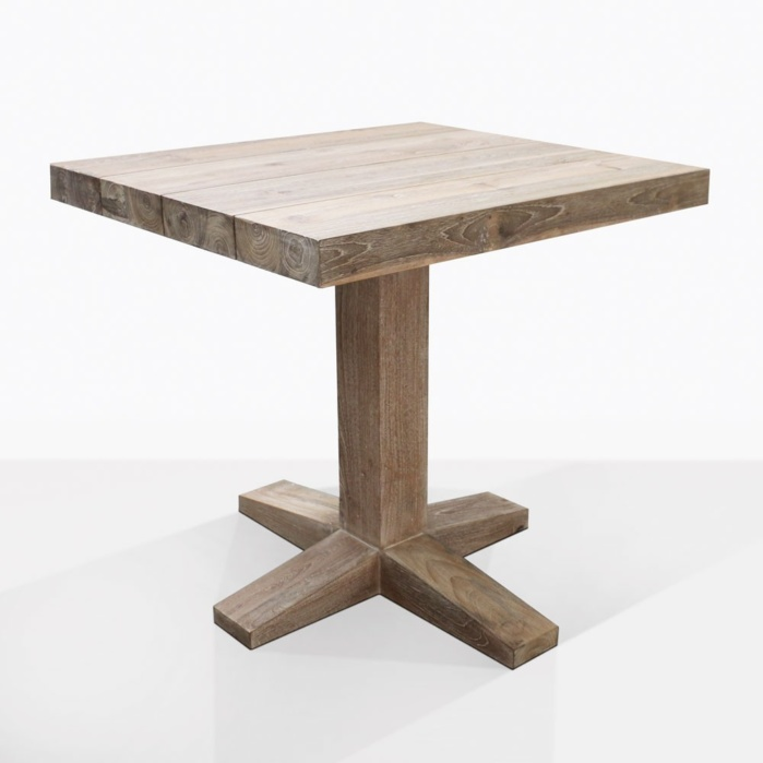 Cube Reclaimed Teak Bistro Dining Table