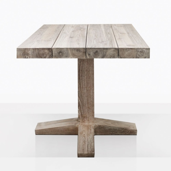 Cube Reclaimed Teak Bistro Dining Table Side