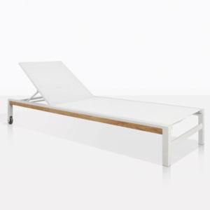 Modern White Aluminum Sun Lounger