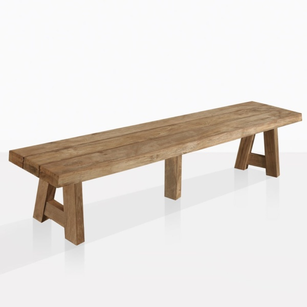 Hunter Reclaimed Teak Dining Backless Bench